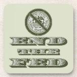 Termine al libertario de FED Federal Reserve Posavasos De Bebidas