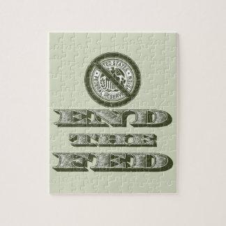 Termine al libertario de FED Federal Reserve Rompecabeza
