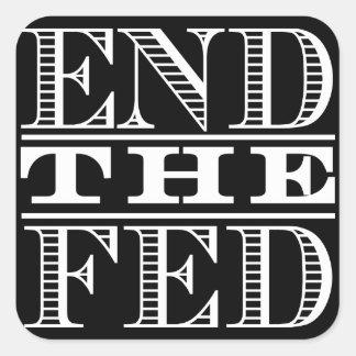 Termine al pegatina de FED