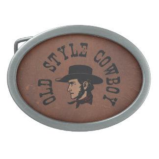 Termine con el gorra negro: Vaquero del viejo esti Hebillas Cinturón Ovales