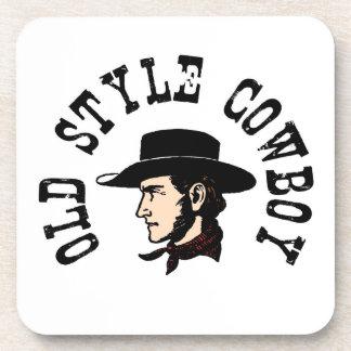 Termine con el gorra negro: Vaquero del viejo esti Posavasos