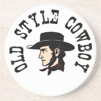 Termine con el gorra negro: Vaquero del viejo esti Posavasos Cerveza