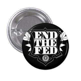 Termine el botón de FED Pin Redondo De 1 Pulgada