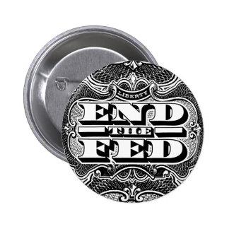 Termine el botón de FED Pin Redondo De 2 Pulgadas