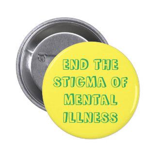 Termine el botón del estigma pin redondo de 2 pulgadas