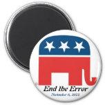 Termine el error el 6 de noviembre de 2012 imán de frigorífico