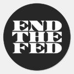 Termine el FED Etiquetas