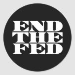 Termine el FED Etiquetas Redondas