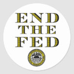 Termine el FED Federal Reserve Etiquetas Redondas