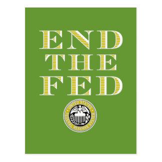 Termine el FED Federal Reserve Postales