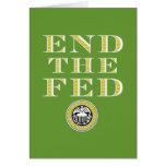 Termine el FED Federal Reserve Tarjeta