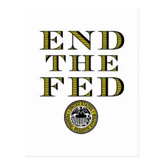 Termine el FED Federal Reserve Tarjeta Postal
