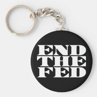 Termine el FED Llavero Redondo Tipo Pin
