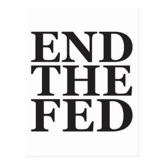 Termine el FED - negro Tarjeta Postal