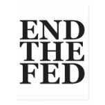 Termine el FED - negro Tarjetas Postales