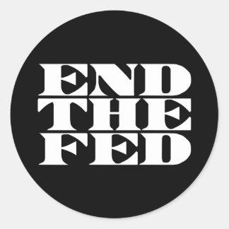 Termine el FED Pegatina Redonda