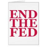 Termine el FED - rojo Tarjeta