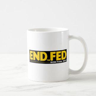 ¡Termine el FED! Ron Paul 2012 Taza Clásica