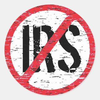 Termine el IRS Pegatina Redonda