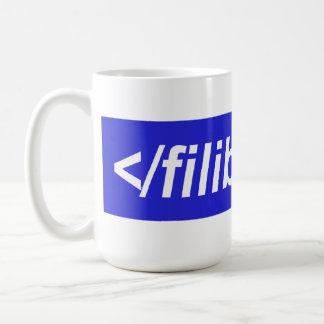 Termine el obstruccionismo ahora taza de café