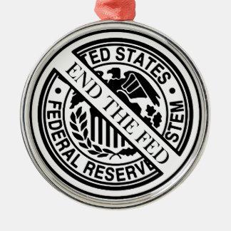 Termine el sistema de FED Federal Reserve Adorno Navideño Redondo De Metal