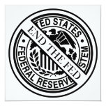 Termine el sistema de FED Federal Reserve Invitaciones Personalizada