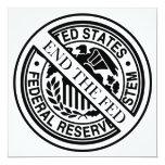 """Termine el sistema de FED Federal Reserve Invitación 5.25"""" X 5.25"""""""