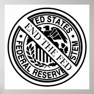 Termine el sistema de FED Federal Reserve Poster