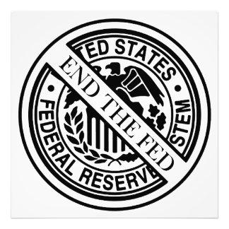 Termine el sistema de FED Federal Reserve Impresiones Fotográficas