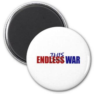 Termine esta guerra imanes de nevera