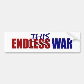Termine esta guerra pegatina de parachoque