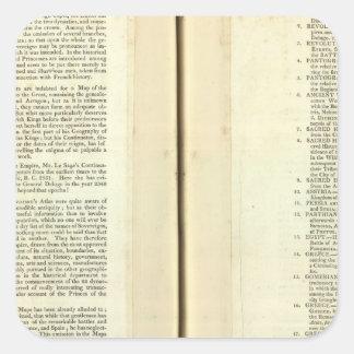 Termine genealógico, histórico, cronológico pegatina cuadrada