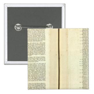 Termine genealógico, histórico, cronológico pin cuadrado