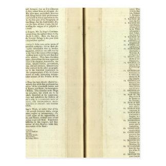 Termine genealógico, histórico, cronológico tarjeta postal