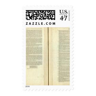 Termine genealógico, histórico, cronológico timbre postal