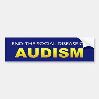Termine la enfermedad social de Audism Pegatina Para Auto