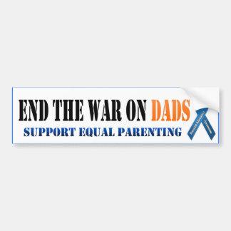 Termine la guerra en papás pegatina para auto