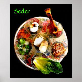 Termine la placa de Seder Póster