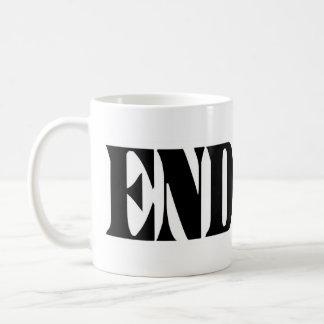Termine la taza del café/del té de FED