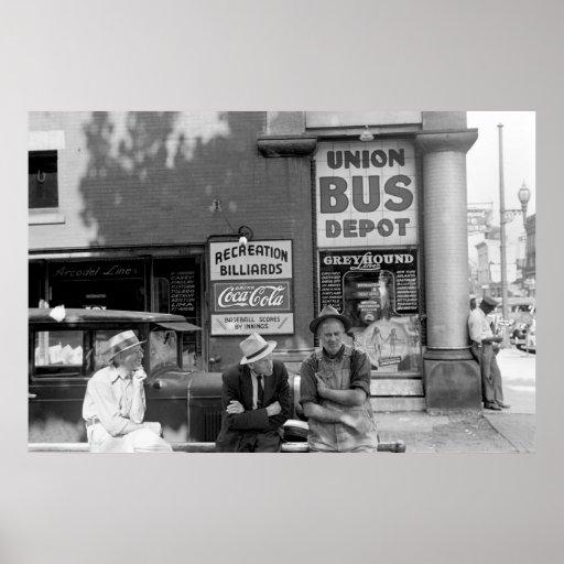 Término de autobuses: 1938 póster