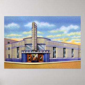 Término de autobuses del galgo de Evansville India Póster