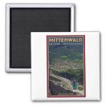 Término de Mittenwald - de Karwendelbahn Imanes De Nevera