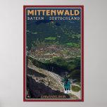 Término de Mittenwald - de Karwendelbahn Poster