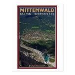 Término de Mittenwald - de Karwendelbahn Tarjeta Postal