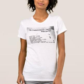 Términos arqueológicos explicados camisetas