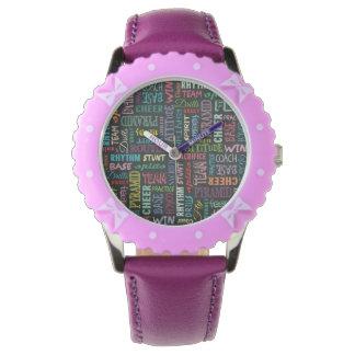 Términos de la alegría en la pizarra relojes de pulsera