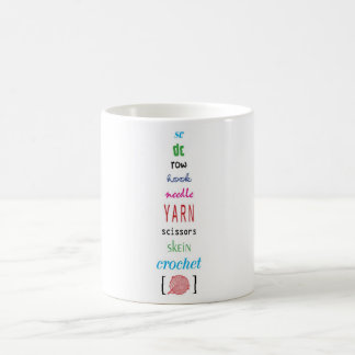 Términos del ganchillo taza de café