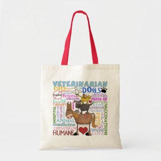 Términos del veterinario del arte del Veterinario- Bolsa Tela Barata