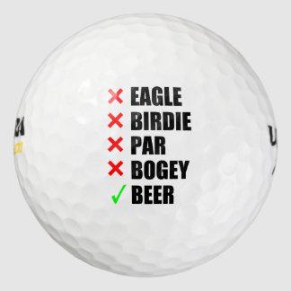 Términos divertidos del golf pack de pelotas de golf