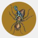 Termite Rider Classic Round Sticker